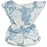 Bella Rose Playwear Sweet Pea Blue Floral Soft Romper Made in USA Size 4 (4)