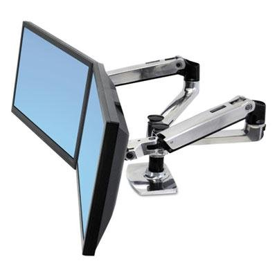 """Ergotron - Lx Dual Side-By-Side Arm For Workfit-D Sit-Stand Desk """"Product Category: Desk Accessories & Workspace Organizers/Platforms Stands & Shelves"""""""