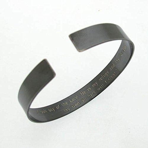 KIA Bracelet - Personalized Military Bracelet- Black Cuff - Veterans gift - In Loving Memory Remembrance Bracelet - Custom Black Cuff for Men - Mens Jewelry