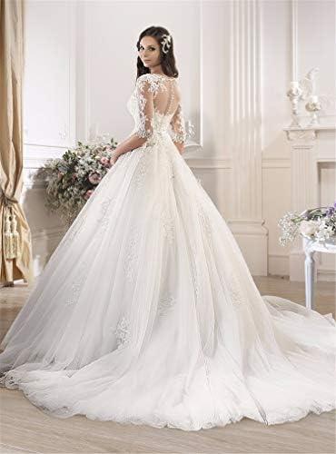 ZZZHS Frauen Hochzeitskleid, One-Shoulder-Slim Lace Trailing Hochzeitskleid Größe angepasst dünne Langarm Rock für Abschlussball, Abendgesellschaft Cocktail-Hochzeit