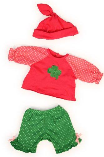 Bayer Design 83852 - Kleidung für Puppen 38 cm, grüne Hose mit Shirt und Mütze