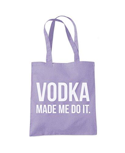 Vodka Made Me Do It - Tote Shopper Fashion Bag Lavender Purple