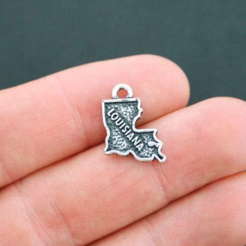 (Charm - Jewelry - Pendant - Louisiana State 4 pcs)