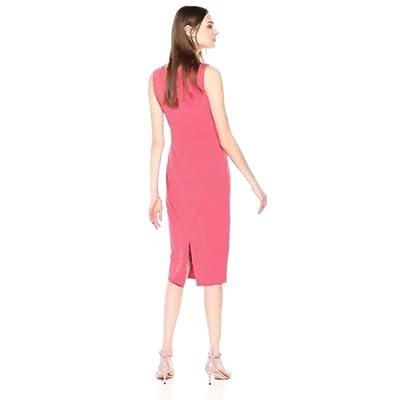 Donna Morgan Women's Boatneck Crepe Sheath Dress at  Women's Clothing store