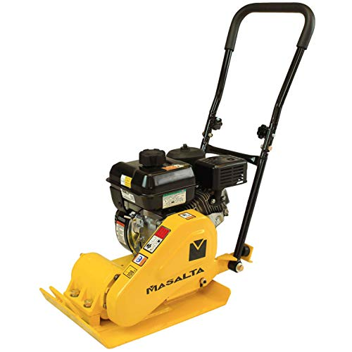 RuggedMade Vibratory Plate Compactor 2,400 lbs Force, Pavers Soil and Asphalt Compaction (6.5 HP Loncin Engine)