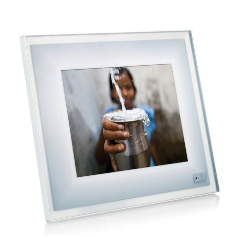 Aura Digital Photo Frame – Limited Edition charity: water Crystal Blue Aura | Beautifully Designed, Highest Resolution Digital Frame Ever Made