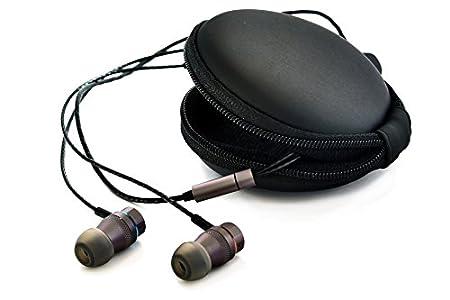 Erdre Audio D201G – Casque Audio à écouteurs Intra-Auriculaires – Marque française – Double Haut-parleurs et Microphone intégré