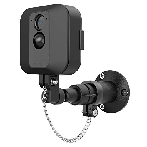 HOLACA Security Outdoor Mount for Blink XT Outdoor Camera with Anti-Theft Chain & Metal Wall Mount Bracket-Extra Protection for Your Blink Home Security (1 Pack)