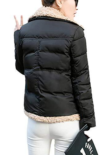 Outdoor Largo Elegantes Abrigo Ropa Espesar Invierno Hx Transición Áspera Manga Exteriores Cortos Basic Abrigos Cómodo Prendas Negro Casuales Fashion Mujer Termica Outerwear nqnFPS