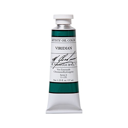 (M. Graham Artist Oil Paint Viridian 1.25oz/37ml Tube)