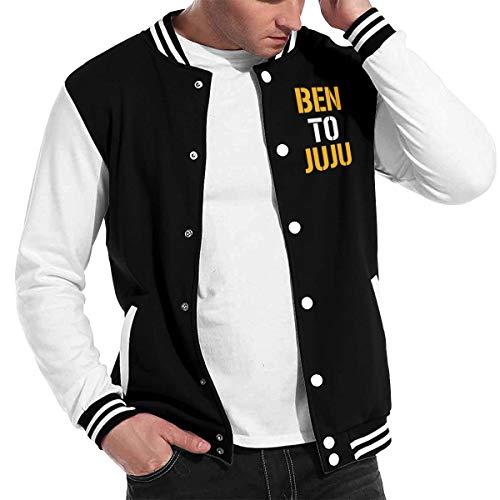 Men Basketballsadw Pittsburgh-Ben-to-Juju Baseball Uniform Jacket Black