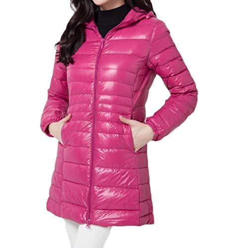 Inverno Rkbaoye Donne size Piumino Zip Packable Plus Autunno Curve Tutta Rosa Rossa qqfrX