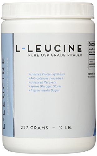 L-Leucine 227 Grams (1/2lb) – Ultra Fine Pure Powder Unflavored For Sale
