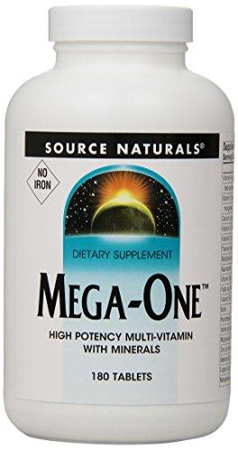 Source Naturals Mega-One multiples sans fer,