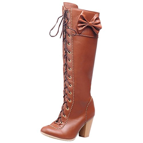 AIYOUMEI Women's Classic Boot Brown Rvm9k5f