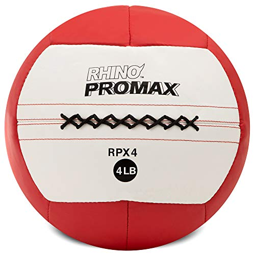Champion Sports RPX4 Rhino Promax Slam Balls, 4 lb, Soft Shell with Non-Slip Grip, Medicine Wall Ball for Crossfit, Plyometrics & Cross Training