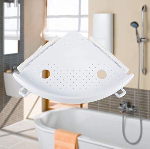 Herewegoo Eckablage Inhaber Regale Bad Shampoo Dusche K/üche Lagerregal Organizer