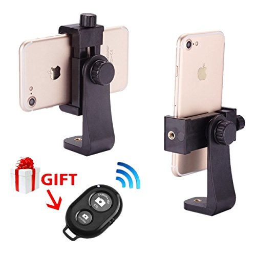 Cheap Stabilizers iPhone Tripod Mount Smartphone Holder Adapter Phone Clip for iPhone X 8..