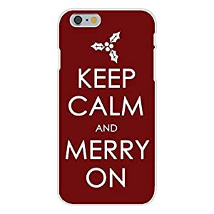 Apple iphone 5 5s Custom Case White Plastic Snap On - Keep Calm and Merry On Christmas Holidays