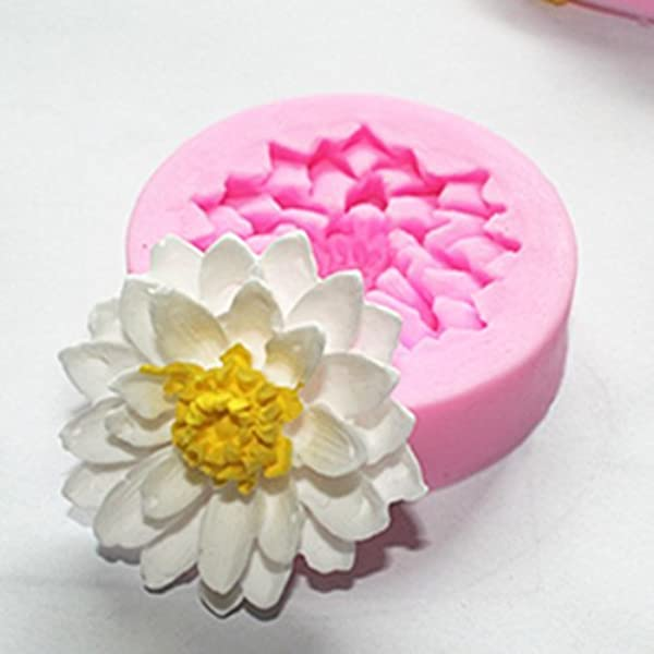 Ausomely Moldes de Silicona Minimalistas Modernos en 3D Forma de coraz/ón Redondo Forma de Flor de Ciruelo Molde en Forma de Estrella de Cinco Puntas para la decoraci/ón del hogar
