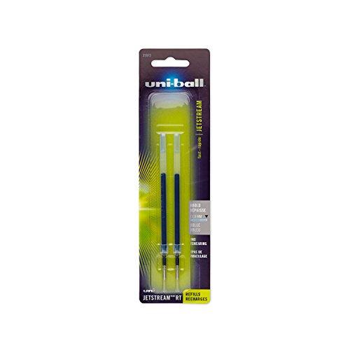 uni-ball Jetstream RT Ballpoint Pen Refills, Bold Point (1.0mm), Blue, 2 (Bold Point Ballpoint Pen Refill)