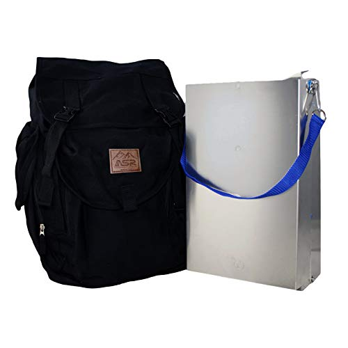 ASR Outdoor Aluminum Folding Sluice Box and Backpack for Gold Prospecting Tools (Backpack Sluice Box)