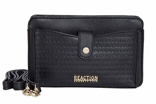 Kenneth Cole Reaction KN1868 Alpine Mini Cross Body Bag (BLACK EMBOSS) (Best Medium Sized Crossbody Bag)