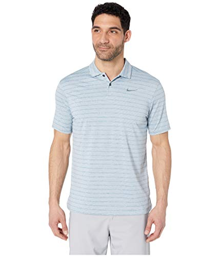 - Nike Dry Fit Vapor Stripe Golf Polo 2019 Aviator Gray/Aviator Gray Large
