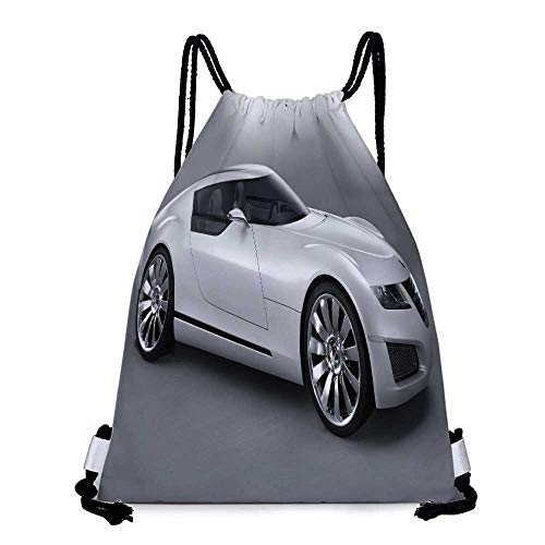 (Made of polyester fabric car saab Saab_Aero_X Waterproof drawstring backpack W17.3 x L13.4 Inch)