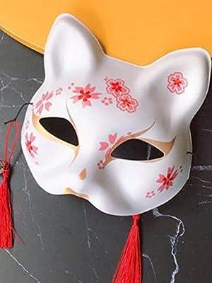 mysticall Máscara de Zorro japonés, máscara de Zorro de Media Cara ...