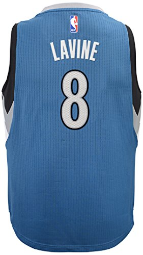 (Outerstuff NBA Minnesota Timberwolves Zach LaVine Boys Player Swingman Road Jersey, Large (14-16), Capital Blue)