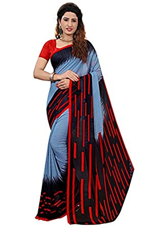 1d05aae988 kirz web store Women's cotton Silk Saree With Blouse Piece (Pure Soft Heavy  Weight Less)(light blue): Amazon.in: Clothing & Accessories