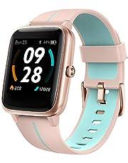 Smartwatch Män Kvinnor UMIDIGI Uwatch3 GPS 1,3 tums pekskärm Personlig urtavla Fitnessarmband Pulsmätare Sömnvakt Vattentät Smartwatch för iOS Android (Pink)