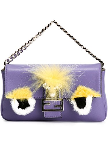 8747f964e9 Fendi Women s 8M03543zqf0z6v-Mcf Purple Leather Shoulder for sale Delivered  anywhere in USA