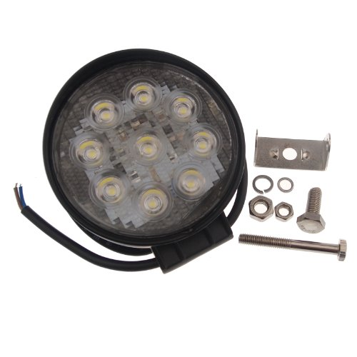TMH 27w Round Shape 60 Degree LED Work Light Flood Beam Spot Lamp Driving Light, Jeep, Off-road, 4wd, 4x4, Utv, Sand Rail, Atv, Suv, Motorbike, Motorcycle, Bike, Dirt Bike, Bus, Trailer, Truck, Train, Mining Truck, Excavator, Bulldozer, Crane, Road Roller, Fork Lift, Fire Engine, Police & Rescue Vehicle, Military Vehicle, Camping, Courtyard Lamp, Fishing, Boat, Yacht, Road Lamp, Tractor, Golf, Street Light, Fog Lamp, Day Light, Marine Deck