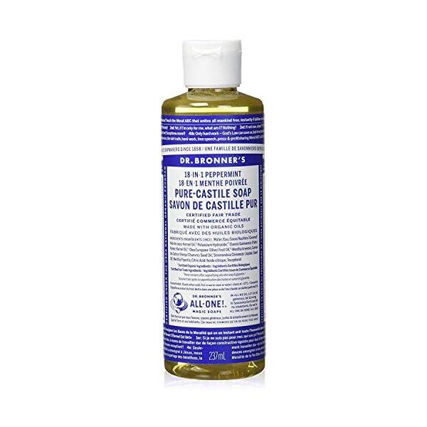 Dr. Bronner's Organic Peppermint Pure-Castile Liquid Soap, 237 ml
