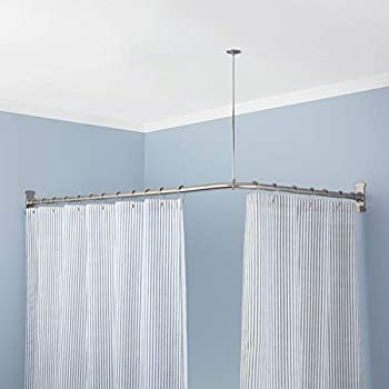 Signature Hardware 198958 60 X 30 Corner Shower Curtain Rod