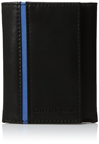 (Geoffrey Beene Men's Stitched Trifold Wallet, black, One Size )