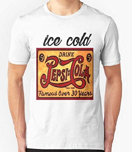 (Ice cold drink Pepsi Cola Vintage rusty Antique T-shirt Slim Fit T-Shirt For Man & Woman)