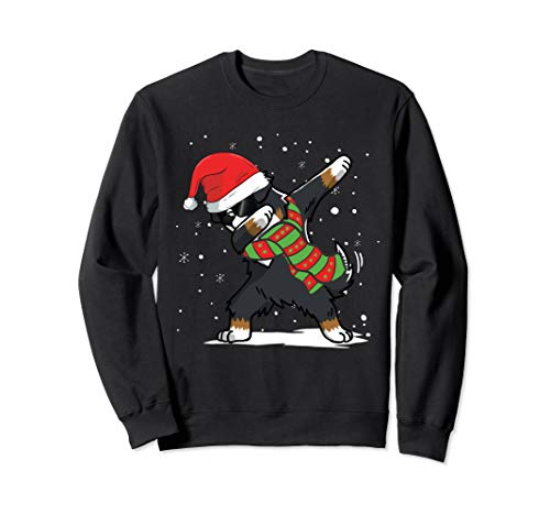 - Dabbing Bernese Mountain Dog Santa Christmas Dog Sweatshirt