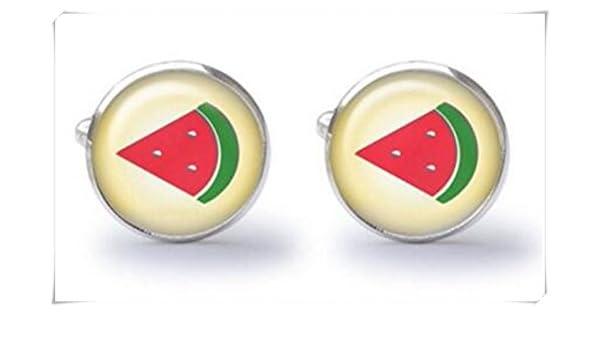 Sandía Slice gemelos – Gemelos de frutas: Amazon.es: Joyería
