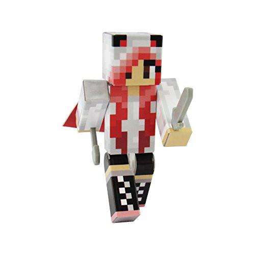 (EnderToys Panda Girl Red Action Figure Toy, 4 Inch Custom Series Figurines)