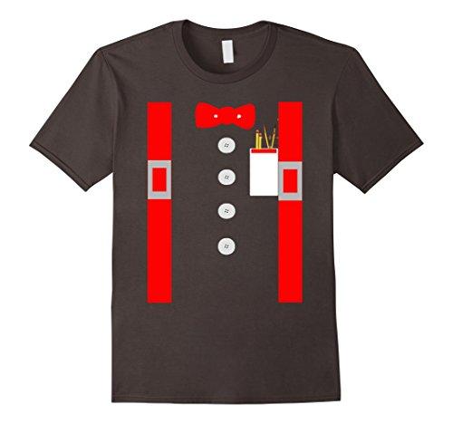 Mens Nerd Costume Shirt Red Suspenders Pocket Protector 3XL - Day Nerd Costume