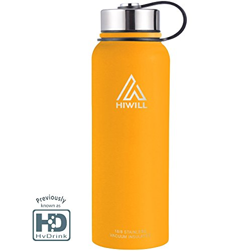 Price comparison product image Hiwill Stainless Steel Vacuum Insulated Water Bottle,  Cold for 24 Hours Hot for 12 Hours,  21-50 OZ Double Wall Thermos Flask, Travel Sports Leak Proof Drinking Bottle with Metal Strainer,  BPA Free