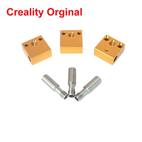 CCTREE 3D Printer Aluminum Heater Block With Stainless Steel Throat for MK7 MK8 Creality CR-10 CR-10S S4 S5 Extruder Creality Orginal (Pack of 6pcs) by CCTREE