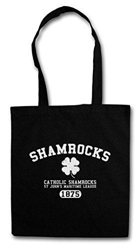 SHAMROCKS Hipster Shopping Cotton Bag Cestas Bolsos Bolsas de la compra reutilizables - quadrifoglio Irlande irlandés Irish Farmington Strike IRA Team Vic Mackey The Shield