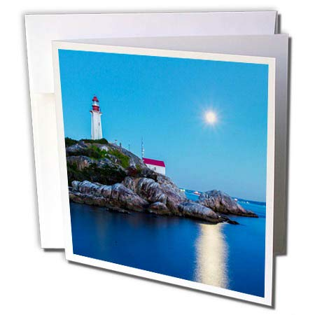 3dRose Elysium Photography - Seascape - Lighthouse Park, Vancouver, British Columbia - 1 Greeting Card with Envelope (gc_289602_5)