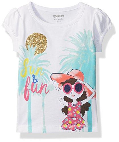 Gymboree Toddler Girls' Palm Trees Graphic Tee, White, 4T