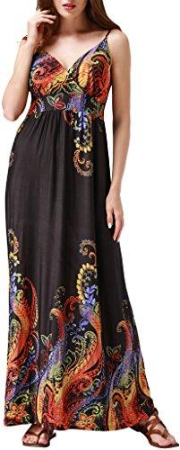 Wantdo Women's Beach Dress Cani Maxi Dress Summer Plus Size US 2X