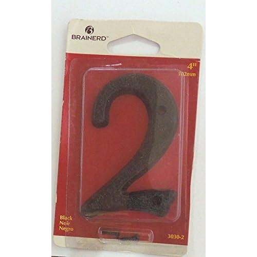 "3030-2 4"" Black Plastic House Number ""2"""